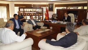 Başkan Taştan Finike Belediyesine ziyaret