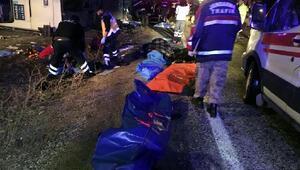 Kahramanmaraşta yolcu otobüsü devrildi: 7 ölü, 24 yaralı/Ek fotoğraf