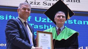 Nobel ödüllü bilim adamı Aziz Sancara Özbekistanda fahri doktora