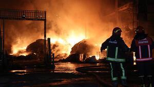 Tesiste yangın... Alevler göğe yükseldi, patlamalar yaşandı