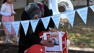 Astsubay baba, şehit oğlu Bedirhanın ilk yaş gününü mezarında kutladı (2)