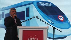 Kocaelide 5 milyar liralık metro projesinin temeli atıldı