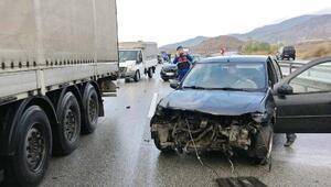 Kastamonu'da 5 aracın karıştığı zincirleme kaza: 6 yaralı