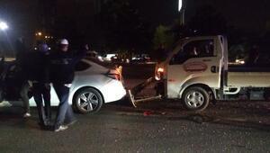 İnegölde zincirleme kaza: 1 yaralı