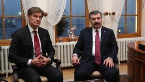 Sağlık Bakanı Koca, Prof. Dr. Mehmet Öz ile bir araya geldi
