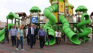 Başkan Demirkol, parklarda incelemede bulundu