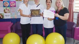 Ödemiş Devlet Hastanesi Gebe Okuluna birincilik ödülü