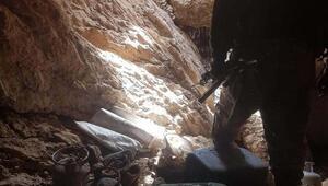 Siirtte terör operasyonunda 22 mağara imha edildi