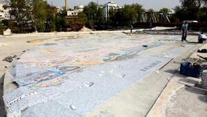 Manavgatın haritası Kent Meydanına işleniyor