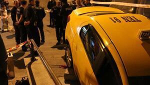 Taksici merdivenlerden aşağı uçmaktan son anda kurtuldu
