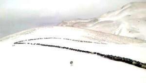 Bu görüntü bugün Türkiye'de çekildi Kar ve tipiye yakalandılar…