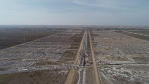 Aksarayda yeni sanayi projesinin inşaat çalışması sürüyor