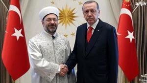 Cumhurbaşkanı Erdoğan, Diyanet İşleri Başkanı Erbaşı kabul etti