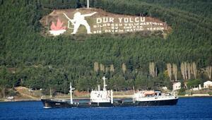 Rus askeri tanker gemisi Çanakkale Boğazından geçti