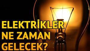 Elektrikler ne zaman gelecek 25 Ekim elektrik kesintisi programı
