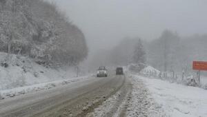 Kütahyada kar yağışı