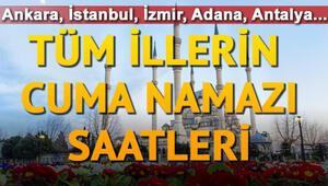 Cuma namazı İstanbul'da saat kaçta İl il cuma namazı saatleri