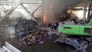 Osmaniye OSBdeki Demir Çelik fabrikasında yangın