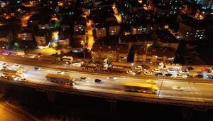 İzmitte TEM yolunda 10 araçlı zincirleme kaza/ Ek fotoğraflar