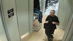 Mağaza kabinlerindenhırsızlık şüphelisi kameradan yakalandı