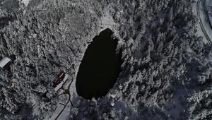 Limni Gölünde kış güzelliği
