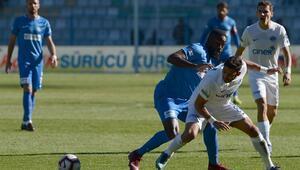 Erzurumda puanlar paylaşıldı 2 gol, 1 kırmızı kart...