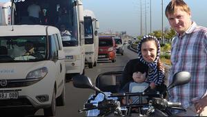 Antalyada trafiği altüst ettiler Polis yardımlarına koştu