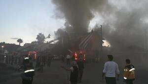 Ortacada otelde yangın