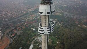 Çamlıca kulesinde ilk 6 kat tamamlandı