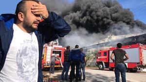 Sakaryada fabrikada büyük yangın