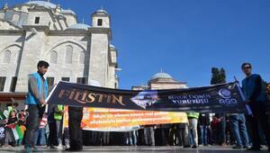 Fatihte Filistine destek yürüyüşü
