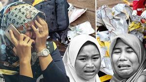 Son dakika: Endonezyada düşen uçağın enkazına ulaşıldı