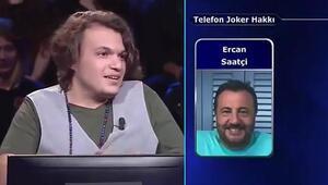 Kim Milyoner Olmak İsterde sanatçı Ercan Saatçi kendisine güvenen yarışmacının başını yaktı