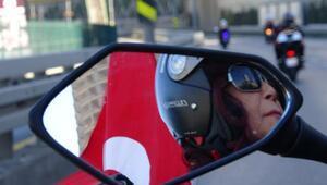 Ek fotoğraflar // Yüzlerce motosikletliden Cumhuriyet korteji
