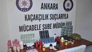 Ankarada yaklaşık 700 bin kaçak vitamin ele geçirildi