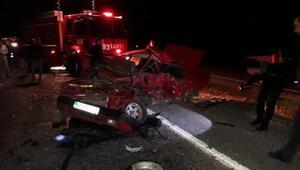 Kahramanmaraşta kaza: 1 ölü, 2 yaralı/ Fotoğraf