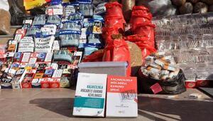 Kaçakçılık şüphelisinin evinde Kaçakçılıkla Mücadele Kanunu kitapları