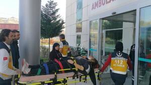Otomobilin çarptığı kız öğrenci hastanelik oldu
