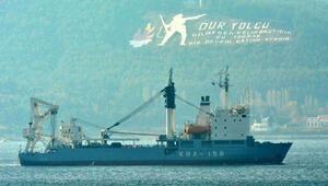 Rus askeri kurtarma gemisi Çanakkale Boğazından geçti