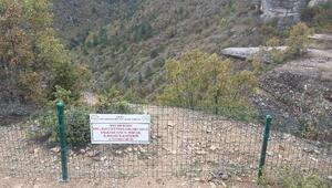 Ölüm riskine karşı taş teras telle çevrildi