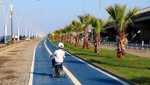 Trabzonda 8 kilometrelik bisiklet yolu açıldı