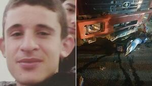 Motosikletle kamyona çarpan Doğukan öldü