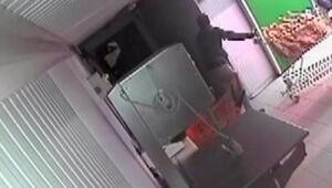 100 bin liralık et hırsızlığı güvenlik kamerasında