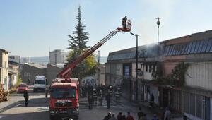 Sanayi sitesindeki atölyede yangın
