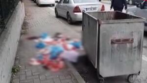 Kocaelide çöpe atılan kanlı bezler endişe yarattı
