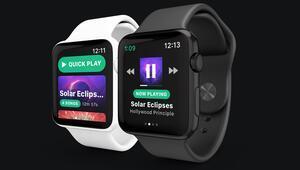 Spotify Apple Watchlara geliyor İşte böyle görünüyor