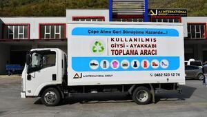 Trabzonda giysiler geri dönüşüme kazandırılıyor