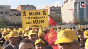 UBER davası için taksiciler adliye önünde toplandı