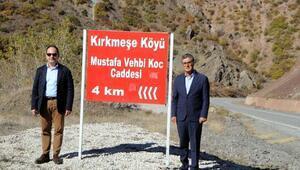 Tuncelide caddeye Mustafa Koçun adı verildi