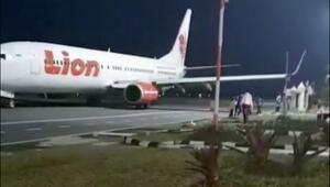 Endonezyada uçağı düşen Lion Airin bir başka uçağı yine kaza yaptı